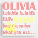 Personalized Kids Canvas Sign-Twinkle(Girl)