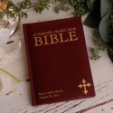 Personalized Laser Engraved Catholic Child's First Bible - Maroon
