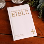 Personalized Laser Engraved Catholic Children's Bible - White