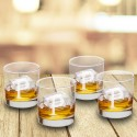 Personalized Lowball Glasses - Set of 4 - Single Initial