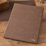 Personalize Mocha Portfolio with Notepad - Silver