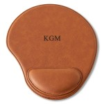Personalized Rawhide Mouse Pad - 3 initials