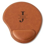 Personalized Rawhide Mouse Pad - Stamped