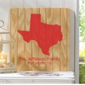 Personalized State Wood Sign - Red