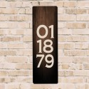 Personalized Wooden Panel Date Board - Brown