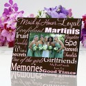 Personalized Maid of Honor Frame - Pink on Brown