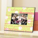 Personalized Bridesmaid Frame - Polka Dots on Green