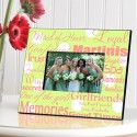 Personalized Maid of Honor Frame - Polka Dots on Green