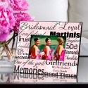 Personalized Bridesmaid Frame - Polka Dots on Pink