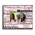 Personalized Matron of Honor Frame - Polka Dots on Pink