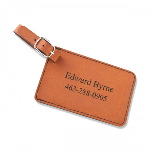 Personalized Leatherette Luggage Tags - Rawhide Luggage Tag