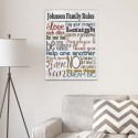 Rules of the House Canvas Print - White