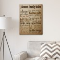 Rules of the House Canvas Print - Burlap