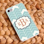 Sea Mist Personalized Chevron iPhone Case