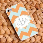 Sherbet Ice Personalized Chevron iPhone Case