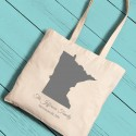 State Canvas Tote - Grey