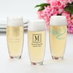Stemless Printed Champaign Flutes - Set of 24