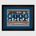Personalized NFL Locker Room Print with Matted Frame - Tennessee Titans