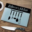 Personalized Glass Cutting Boards - Utensils Cutting Board