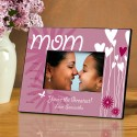 Personalized Mom Hearts and Flowers Frame