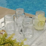 Personalized Classic Jar Glass Set - Single Initial