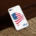 Personalized White Trimmed iPhone Case - Proud to Be an American iPhone Case with White Trim