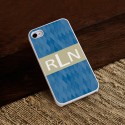 Personalized White Trimmed iPhone Case - Blue Diamonds iphone Case with White Trim