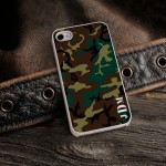 Personalized White Trimmed iPhone Case - Camouflage iPhone Case with White Trim