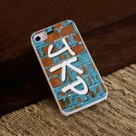 Personalized White Trimmed iPhone Case - Graffiti iPhone Case with White Trim