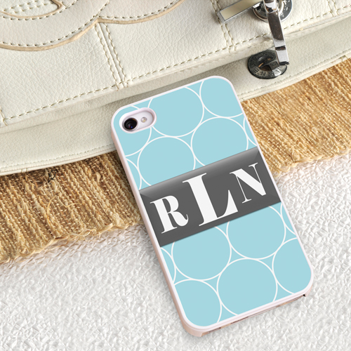 Personalized White Trimmed iPhone Case - Ring-a-Ling iPhone Case with White Trim