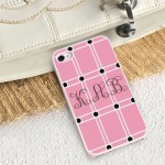 Personalized White Trimmed iPhone Case - Perky Pink iPhone Case with White Trim