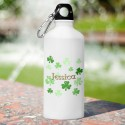 Personalized Irish Water Bottle - Raining Clovers
