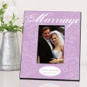 Personalized Marriage Picture Frame - Lavender with White Marriage Picture Frame