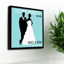 Personalized Couples Studio Canvas - Blissful Blue