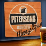 Always Open Personalized Wood Tavern & Bar Sign