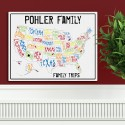 Personalized Spectrum Family Travel Map