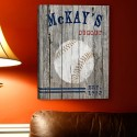 Personalized Baseball Canvas Print