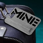 MINE Personalized Luggage Tag for Men