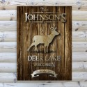 Stag Rustic Wood Cabin Canvas