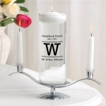 Alexander Monongram Floating Unity Candle Set (MG8)