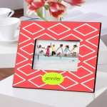 Color Brights Picture Frames - Geometric Coral Picture Frame