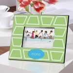 Color Brights Picture Frames - Geometric Lime Picture Frame