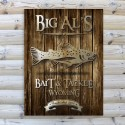 Trout Rustic Wood Cabin Canvas