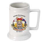 Personalized 16 oz. German Beer Stein - Bulldog