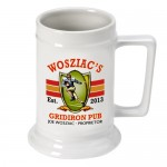 Personalized 16 oz. German Beer Stein - Gridiron