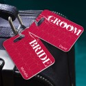 Personalized Bride and Groom Luggage Tags
