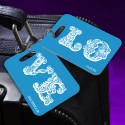 Personalized LOVE Connection Blue Luggage Tag