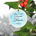 GC667 Baby Boy's First Christmas Ornament - Style 1