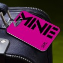 Personalized MINE Pink Luggage Tag