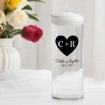 Carved Heart Floating Unity Candle (CP3)